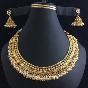 Jewelry - New Indian gold plated necklace set final